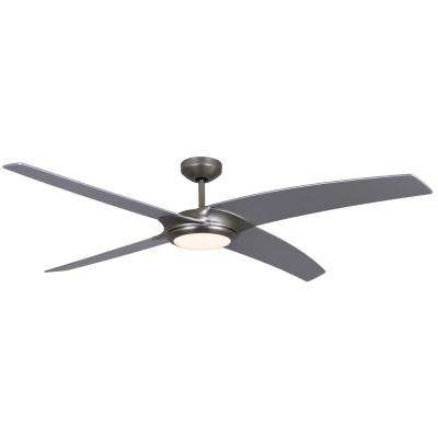 Starfire 56 in. Brushed Aluminum Ceiling Fan with LED Light