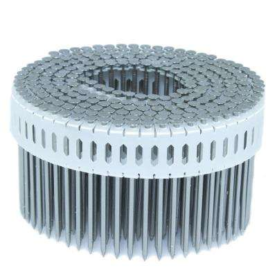 2.5 in. x 0.092 in. 0-Degree Smooth Stainless Plastic Sheet Coil Nail 4,000 per Box