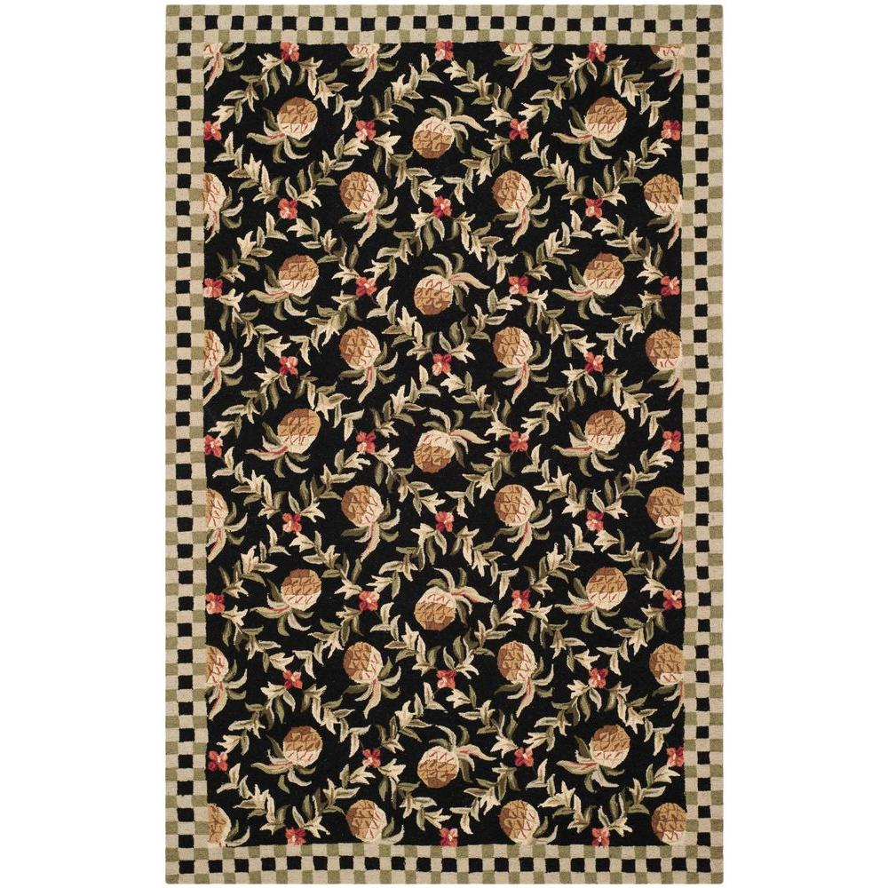 Safavieh Chelsea Black/Ivory 8 ft. 9 in. x 11 ft. 9 in. Area Rug