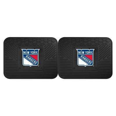 NHL New York Rangers Black Heavy Duty 14 in. x 17 in. 2-Piece Vinyl Utility Mat