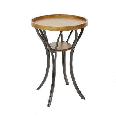 Leo Brown and Gray End Table