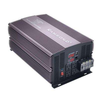 Sunray 3000 Pure Sine Wave Intelligent DC to AC Inverter (12-Volt)