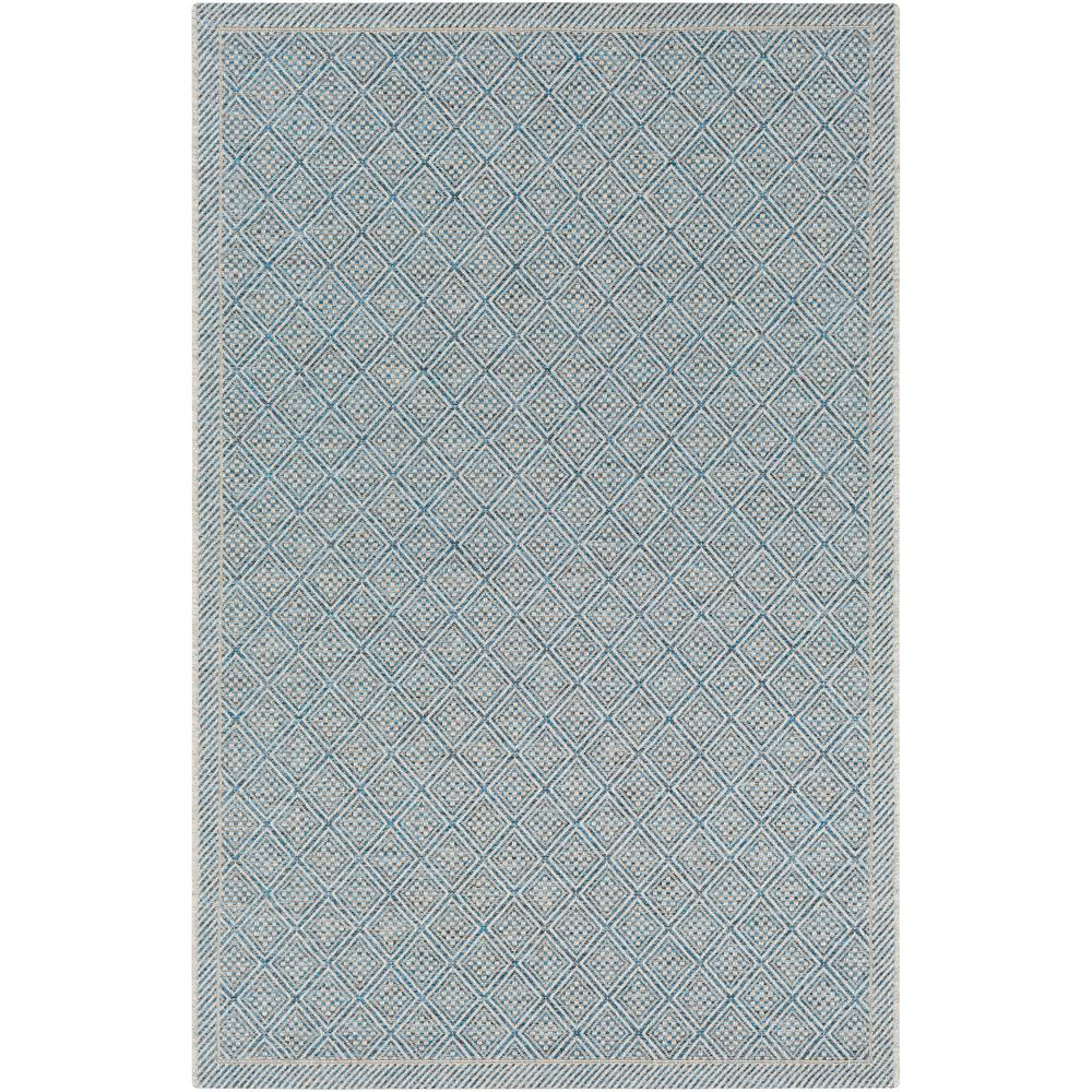 Talbot Gray/Blue 8 ft. x 10 ft. Indoor/Outdoor Area Rug
