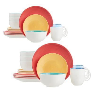 StyleWell 32-Piece Bright Mix & Match Stoneware Dinnerware Set (Service for 8)