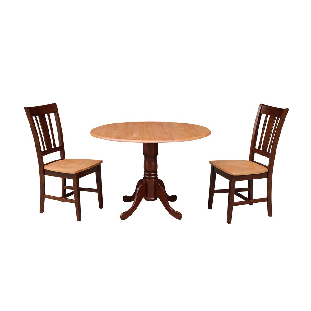 International Concepts Solid Wood 3 Piece Cinnamon
