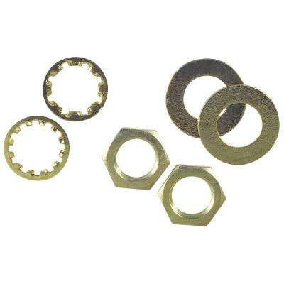 Brass Plate Assorted Nuts and Washers (6-Piece)