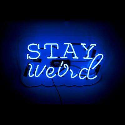 20 in. W x 12 in. H Neon Art Oliver Gal 'Stay Weird' Plug-in Lighted Sign