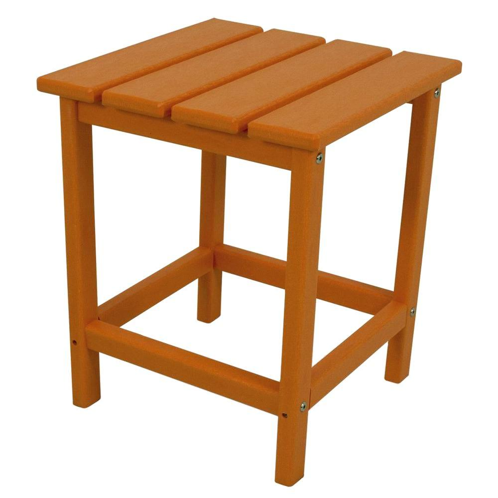 Polywood Long Island Tangerine Side Table Product Image