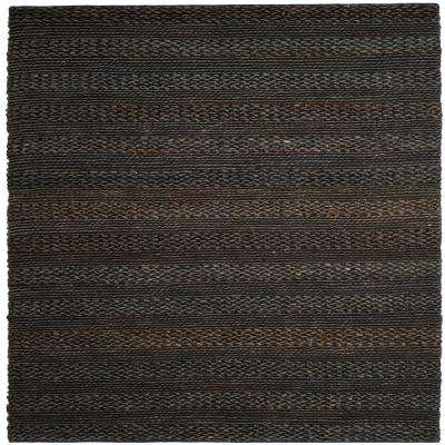 Natural Fiber Charcoal 6 ft. x 6 ft. Square Indoor Area Rug