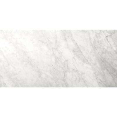 Marble Bianco Gioia Honed 12.01 in. x 24.02 in. Marble Floor and Wall Tile