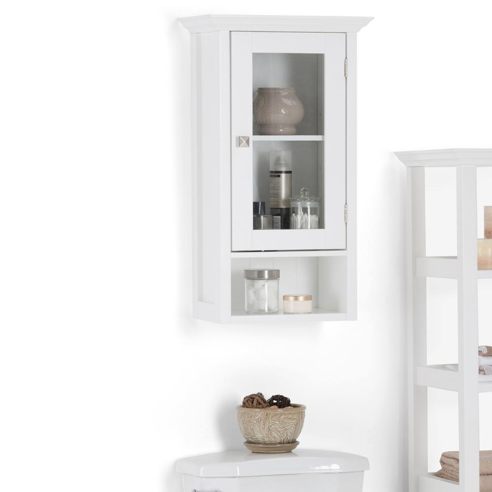 Simpli Home Acadian 15.75 in. W Wall Mounted Cabinet with Single ...