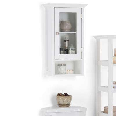 Acadian 15.75 in. W Wall Mounted Cabinet with Single Door in White
