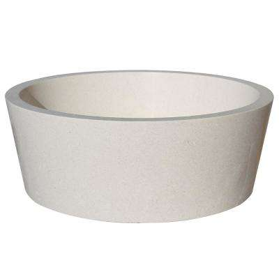 Tapered Natural Stone Vessel Sink in White