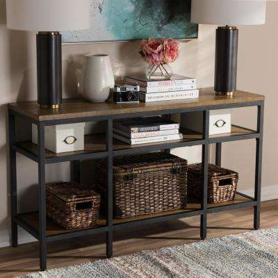 "Caribou ""Oak"" Brown and Black Console Table"