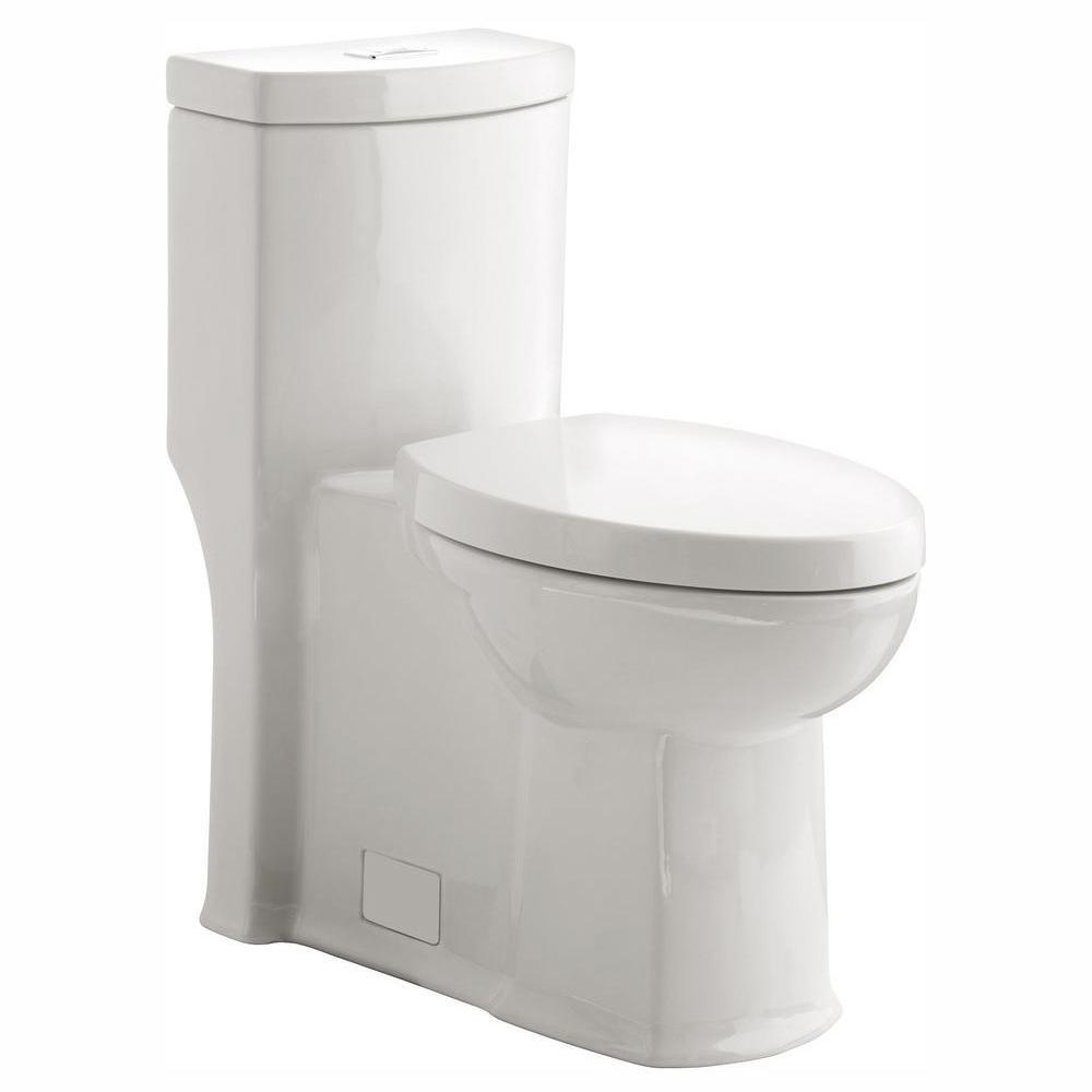 Boulevard Siphonic Tall Height 1-Piece Dual Flush Elongated Toilet in White,