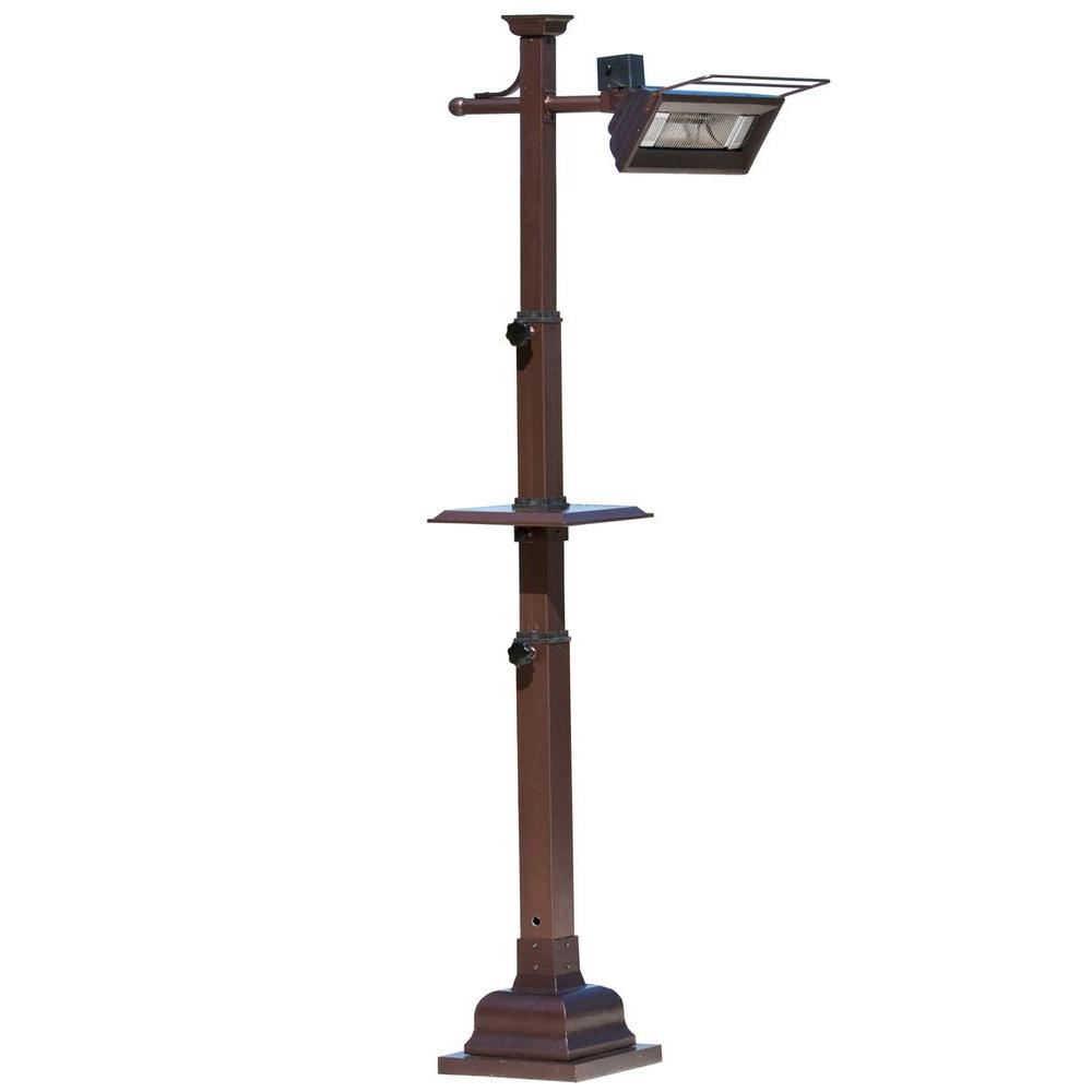 Fire Sense 1,500-Watt Hammered Bronze Pole Mounted Infrared Electric Patio Heater