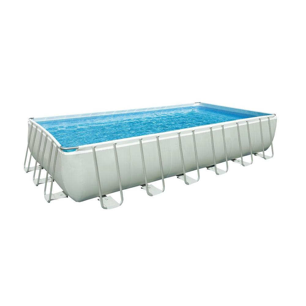 Intex 24 ft. x 12 ft. x 52 in. Rectangular Pool Set
