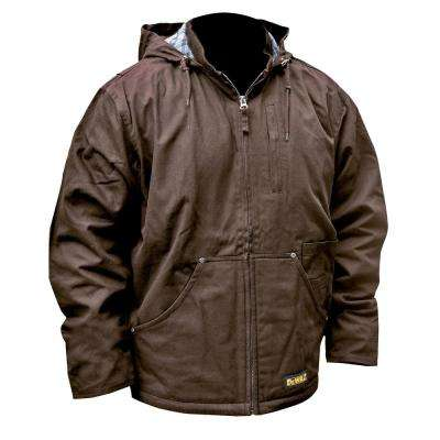 Unisex Small Tobacco Duck Fabric Heated Heavy Duty Work Coat with 20-Volt/2.0 Amp Battery and Charger