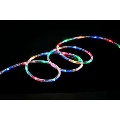 Multiple colors rope lights christmas lights the home depot multi led mini rope light aloadofball Gallery