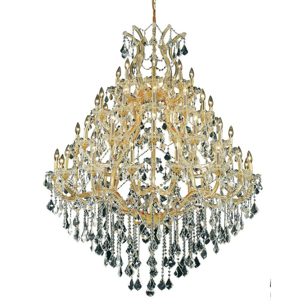 Elegant Lighting 49-Light Gold Chandelier with Clear Crystal