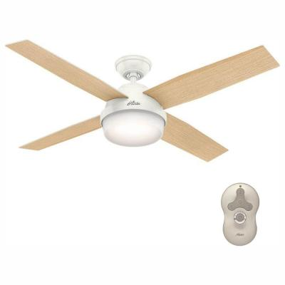 Dempsey 52 in. LED Indoor Fresh White Ceiling Fan with Light Kit and Universal Remote