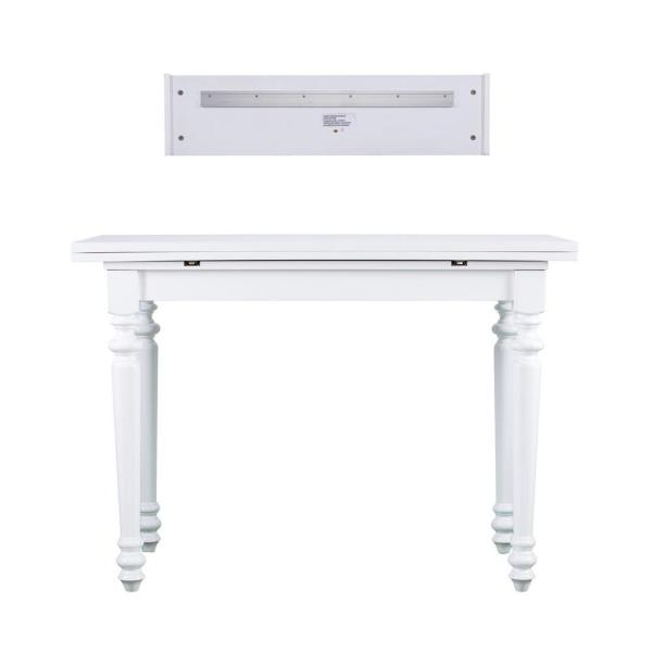 Southern Enterprises Ennis 1-Piece Soft White Convertible Desk to Dining Table