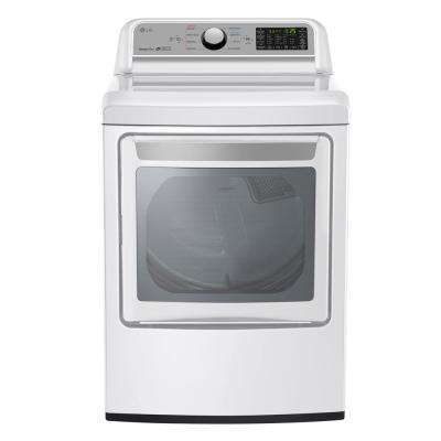 7.3 cu. ft. Smart Gas Dryer with WiFi Enabled in White, ENERGY STAR