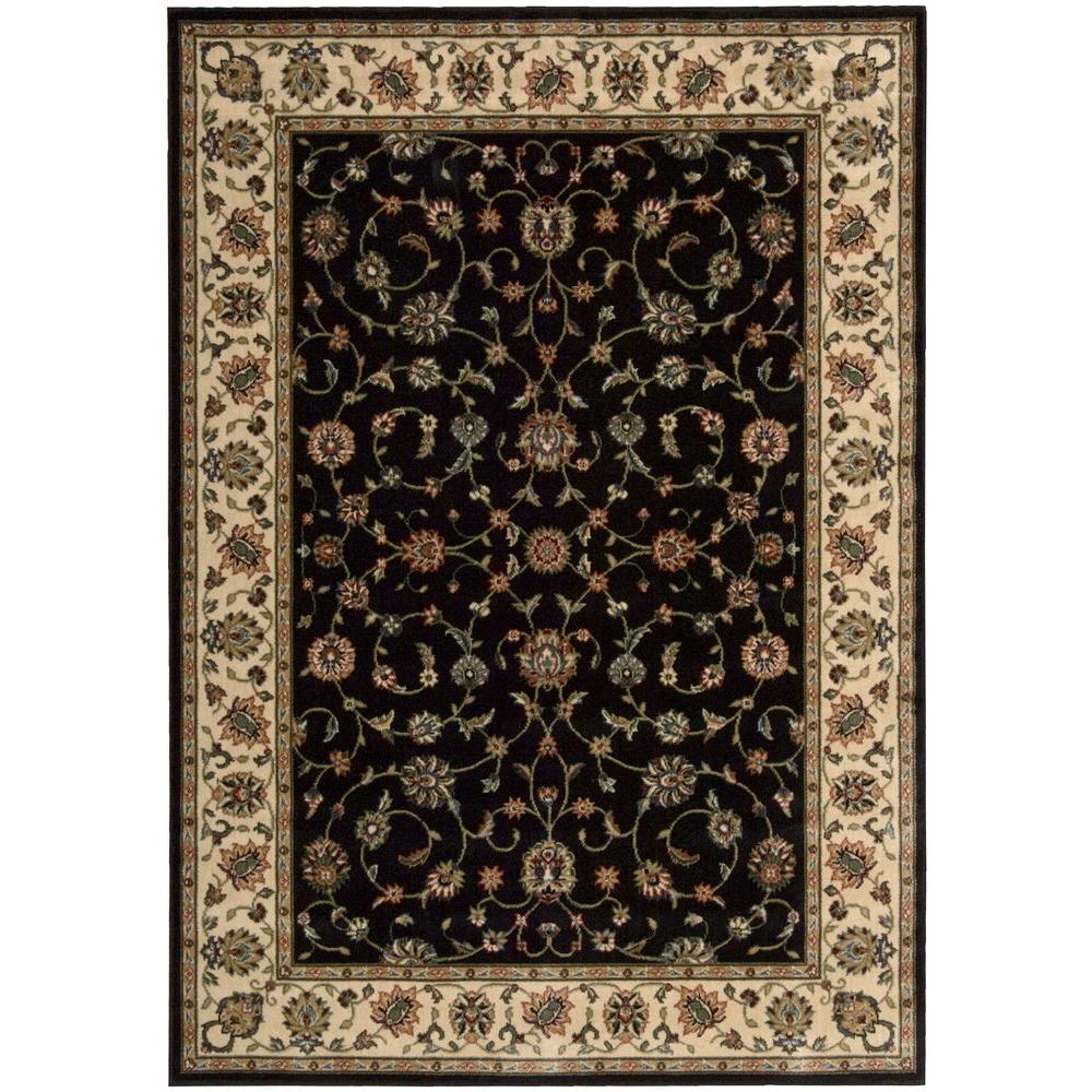 Nourison Persian Arts Black 3 Ft 6 In X 5 Ft 6 In Area