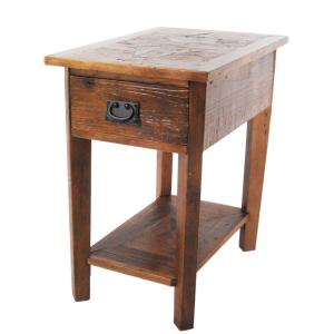 Revive Natural Oak Storage Side Table