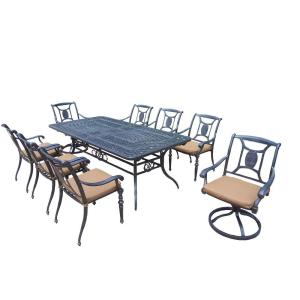 Oakland Living Extendable 9-Piece Rectangular Patio Dining Set with Sunbrella Cushions by Oakland Living