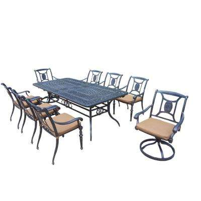 Extendable 9-Piece Rectangular Patio Dining Set with Sunbrella Cushions