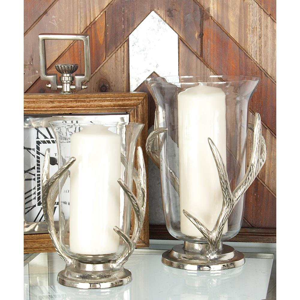 10 in aluminum antler and glass hurricane candle holder 37997 aluminum antler and glass hurricane candle holder 37997 the home depot reviewsmspy