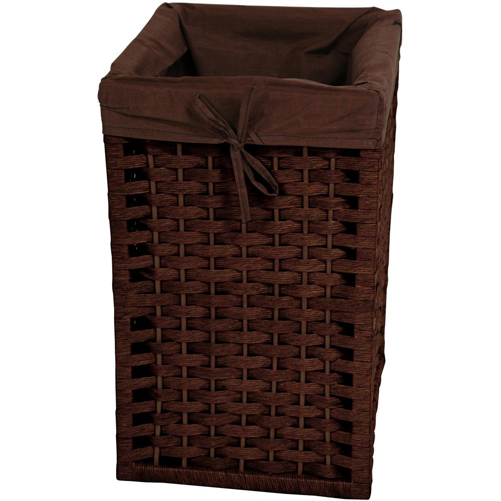Mocha Natural Fiber Basket Trunk