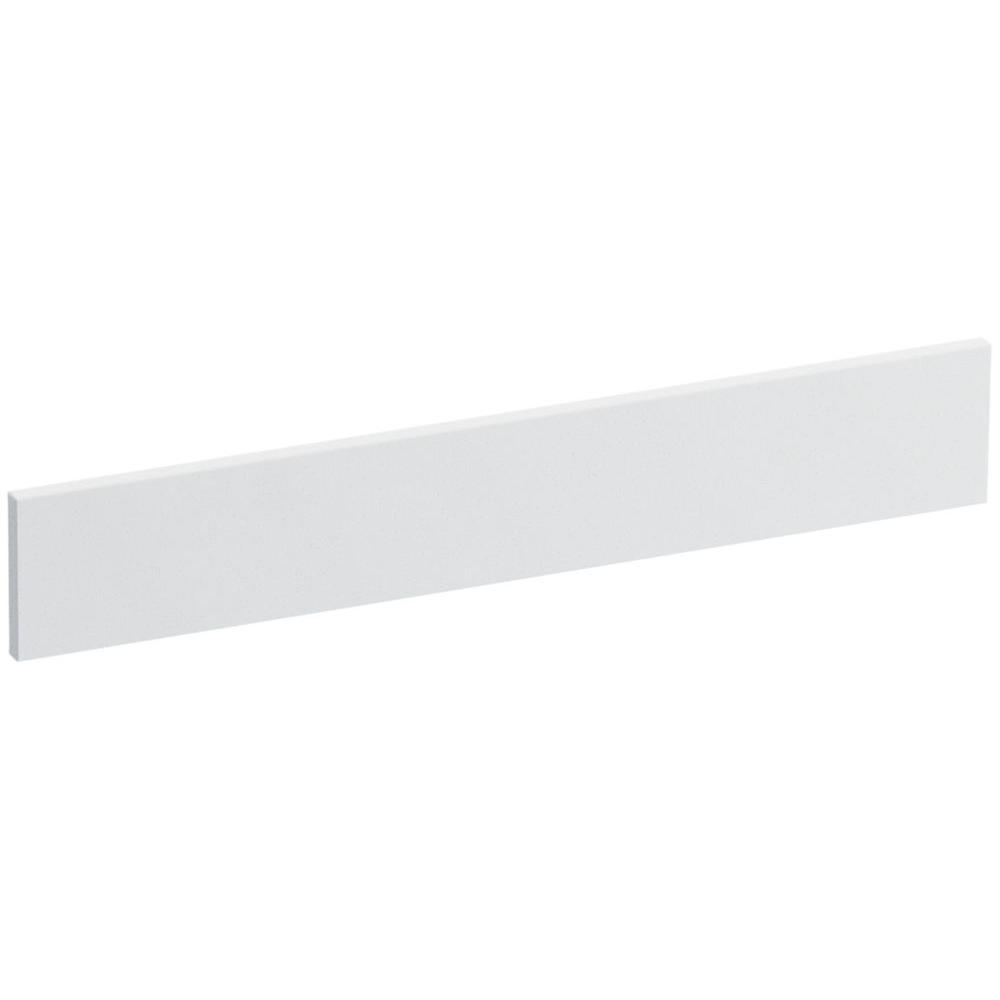 Solid/Expressions 21.25 in. Universal Solid Surface Vanity Sidesplash in White