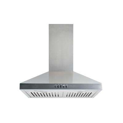 30 in. Convertible Wall Mount Range Hood in Stainless Steel with Baffle Filters LED lights, Push Button Control