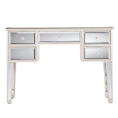 Silver and Clear Mirror Console Table/Sofa Console Table
