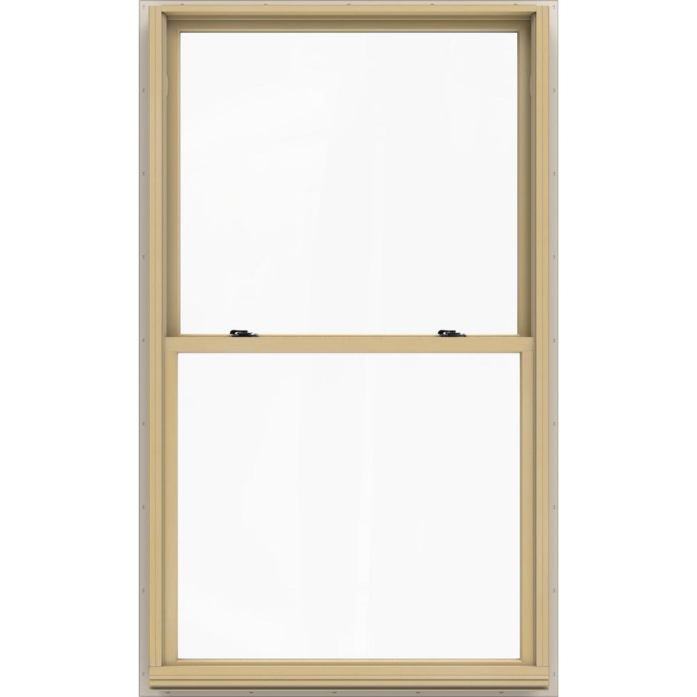 JELD-WEN 37.375 in. x 64.5 in. W-2500 Series White Painted Clad Wood ...