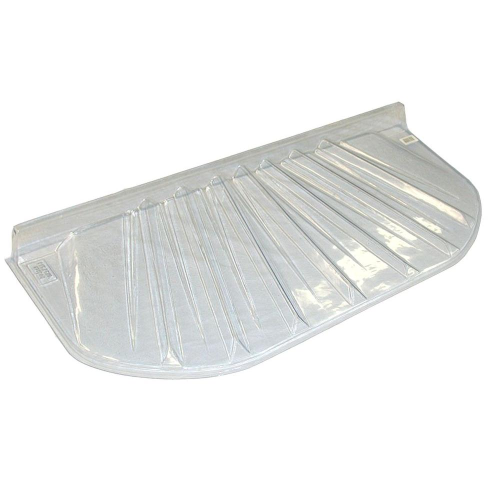 40 in. x 13 in. Circular Plastic Window Well Cover