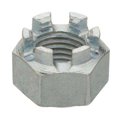 3/8 in.-24 Zinc-Plated Fine Thread Castle Nut