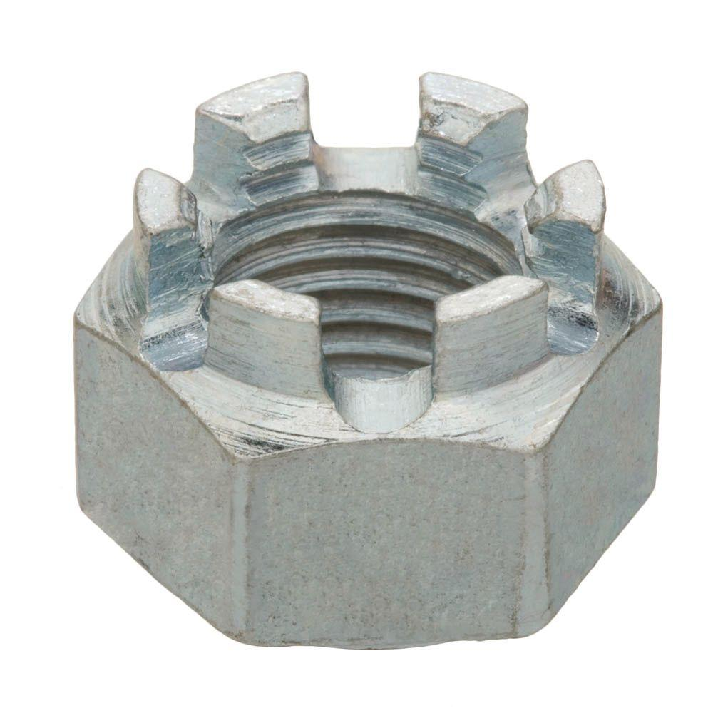 1/2 in.-20 Zinc-Plated Fine Thread Castle Nut
