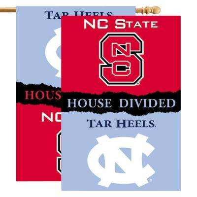 NCAA 28 in. x 40 in. North Carolina/NC State Rivalry House Divided Flag