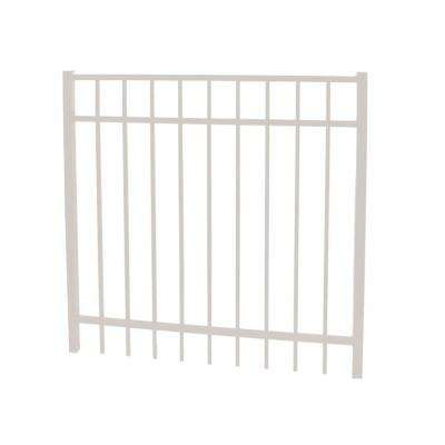 Vinnings 4 ft. W x 5 ft. H White Aluminum Fence Gate