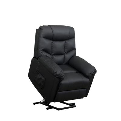 Black Power Lift Recliner Chair Upholstered PU Leather with Remote Control for Living Room