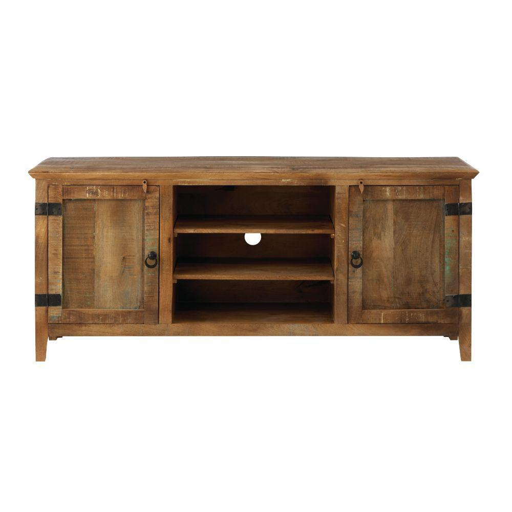 High Quality Home Decorators Collection Holbrook Natural Reclaimed Storage Entertainment  Center