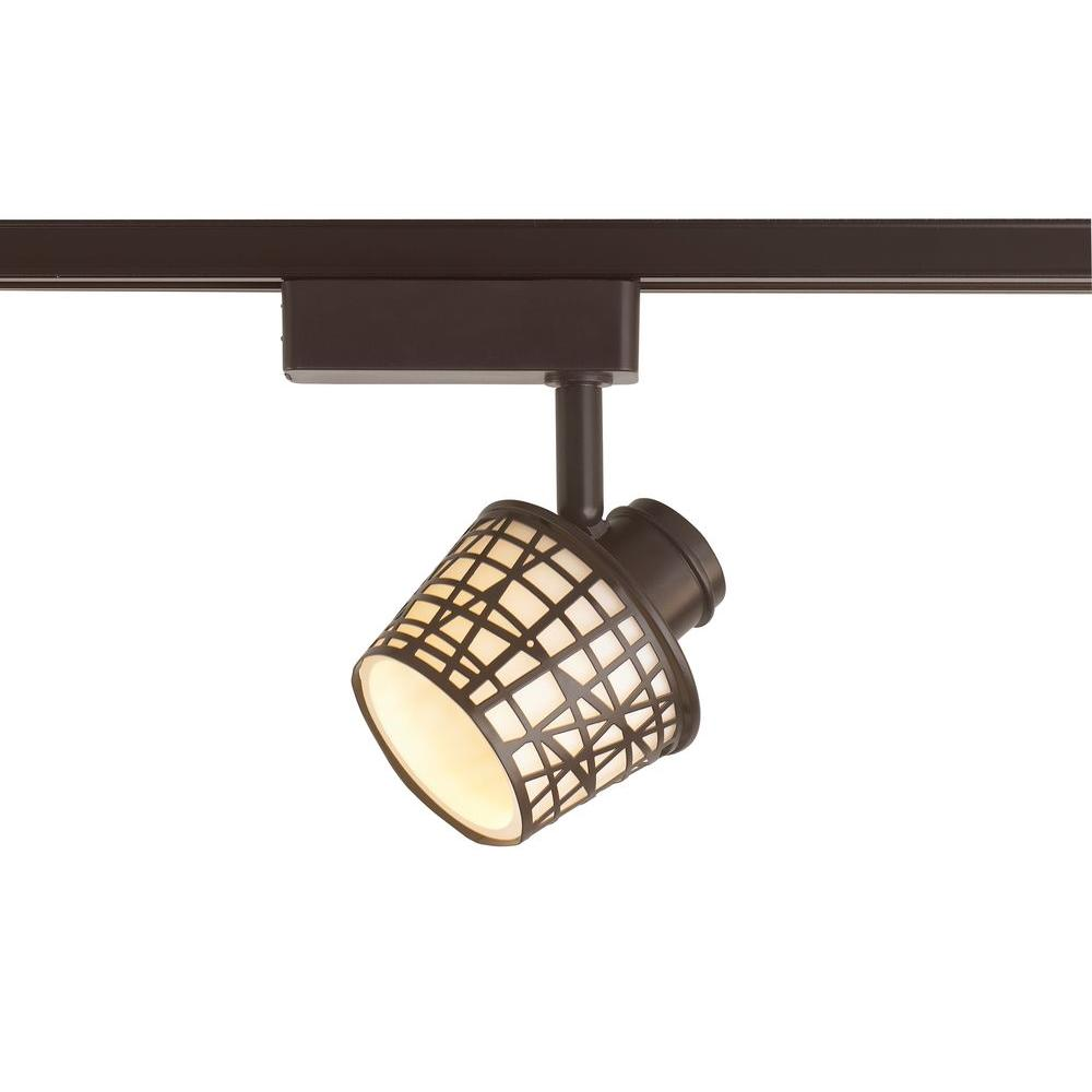 LED Removable Basket Antique Bronze Linear Track Lighting Head with White