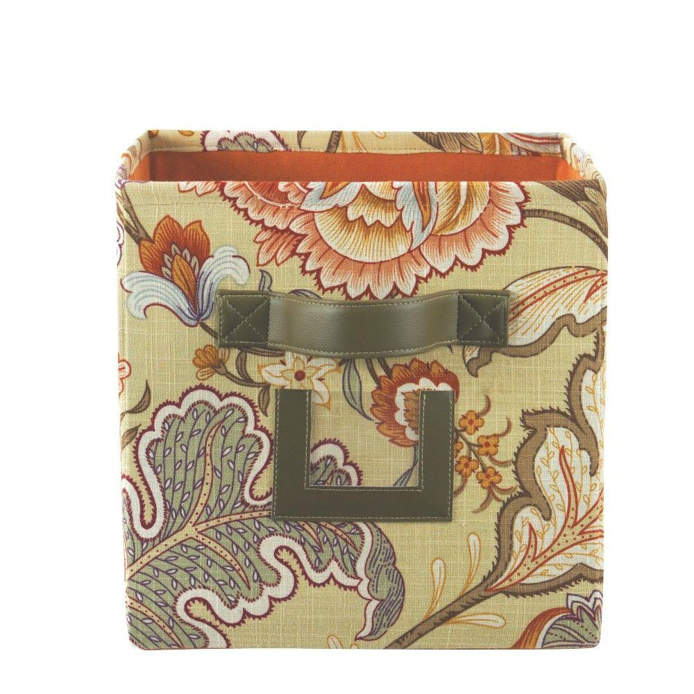 Perfect Home Decorators Collection 10.75 In. W X 11 In. H Meadowlark Clay Fabric  Storage
