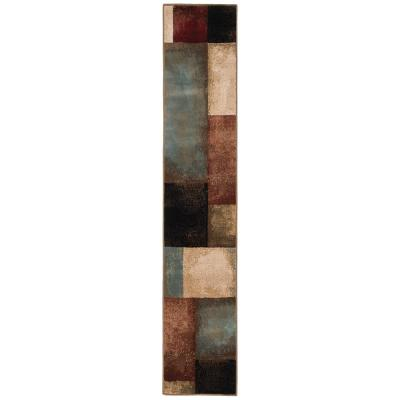 Hayley Multi 2 ft. x 8 ft.  Geometric Runner Rug