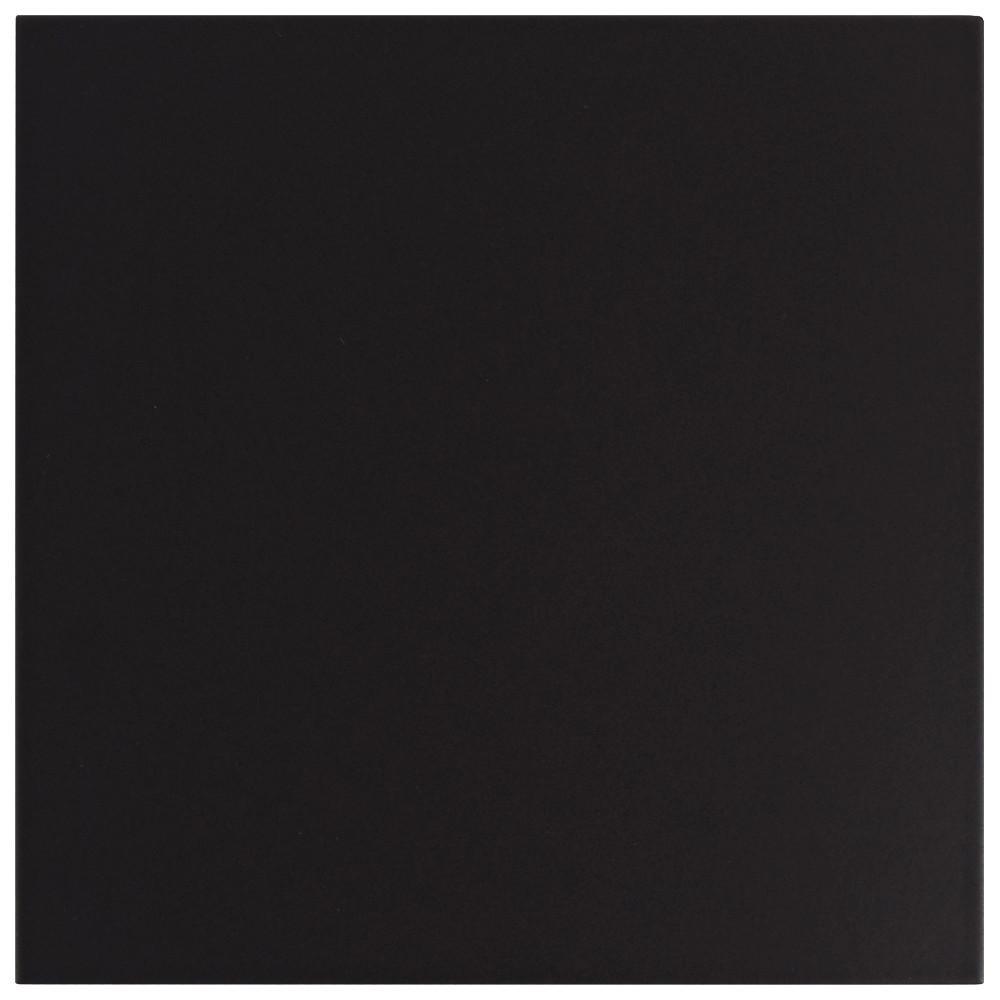 Merola Tile Merola Tile Textile Black 9-3/4 in. x 9-3/4 in. Porcelain Floor and Wall Tile (11.11 sq. ft. / case), Black / Medium Sheen