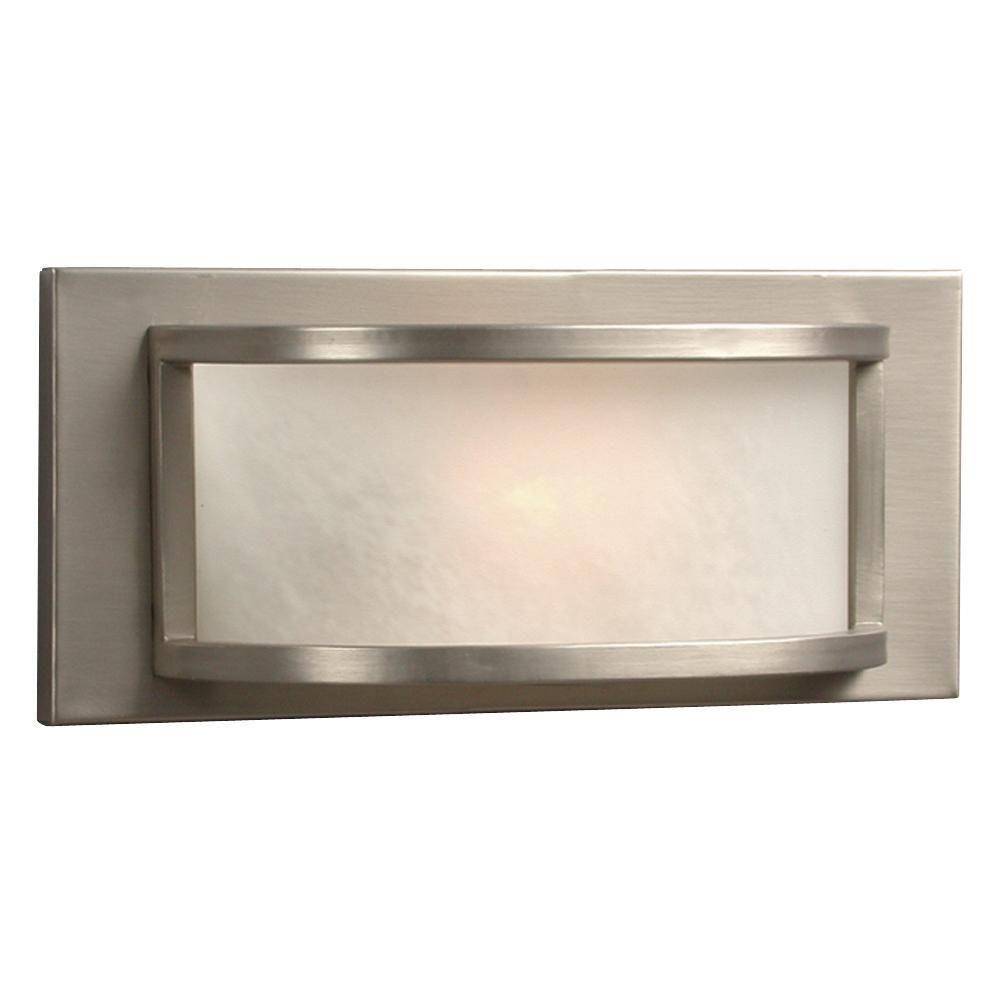 Negron 1-Light Pewter Halogen Bath Vanity Light