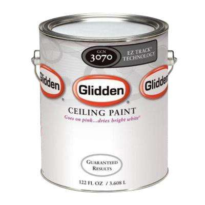 1 gal. Bright White Interior Flat EZ Track Ceiling Paint